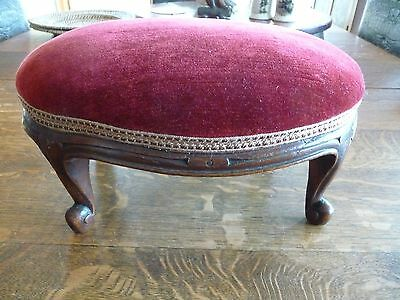 Fabulous Victorian Foot Stool with Cabriole Legs c1870