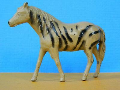 CRESCENT TOYS 1950s LEAD ZOO SERIES HARD TO FIND ZEBRA EXCELLENT