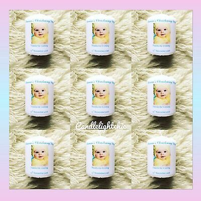 Christening Favours/Baptism/Candle Personalised Photo Gift Present Baby