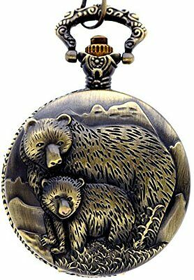 New Brand Mall Classic Vintage Bronze Two Bear's Antique Design Case for Men'...
