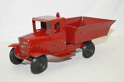 TRIANG TOYS pre war Truck roter Kipper Laster Made in England