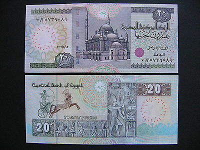 EGYPT  20 Pounds 23.5.2013  (P65)  UNC
