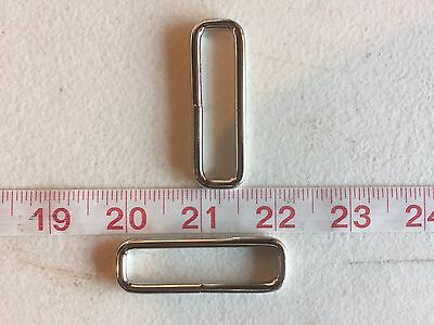"""2 Inch Rectangle Rings Welded 2"""" width slot nickle ring"""