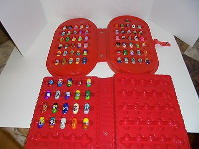 81 Mighty Beanz Lot including cases mix generation