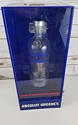 Very Rare Absolut Vodka Promotional display case Absolut Urgency! 2000 release.