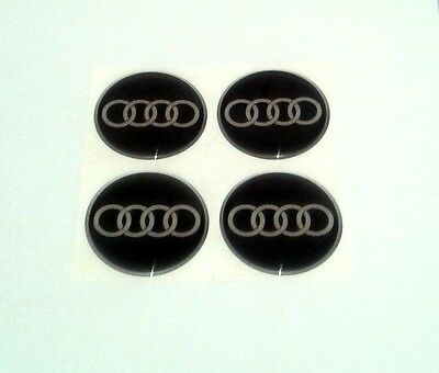 AUDI Wheel Center Hub Caps Silicone Badge Emblem Stickers 4x58mm