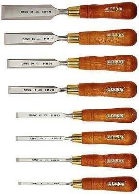 Narex 8-pc Chisel Set - Professional Grade / Made in Czech Republic - NEW / MIB