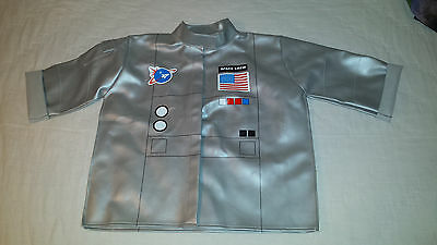 Boys Space Crew Size 6 Astronaut Silver Nasa American Flag Jacket Age 2+ Costume