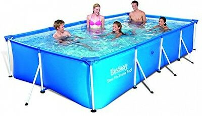 Bestway Family Splash Frame Pool 300 x 201 x 66 Garden Children's Party Swimming