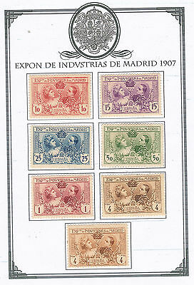 Spain 1907 Expon De Industrias De Madrid M.mint Set Of 7