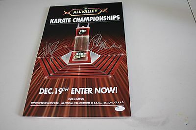 The Karate Kid 11X17 Tournament Poster Signed By Billy Zabka & Ralph Macchio Jsa