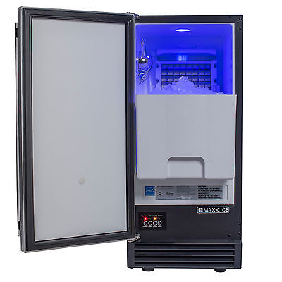 Maxx Ice MIM50P Energy Star Built-In Undercounter 60Lb Ice Maker with Drain Pump
