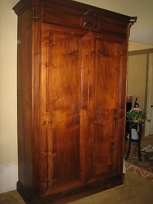 French 19Th Century Armoire, Wine Cabinet, Storage,solid Walnut