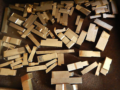 """Pile Of 3/8 And 1/4"""" 3/16"""" Metal Lathe Bits  Machinist Tooling"""