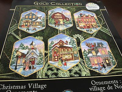 Christmas Village Ornaments Set of 6 Counted Cross Stitch PATTERNS ONLY!!!