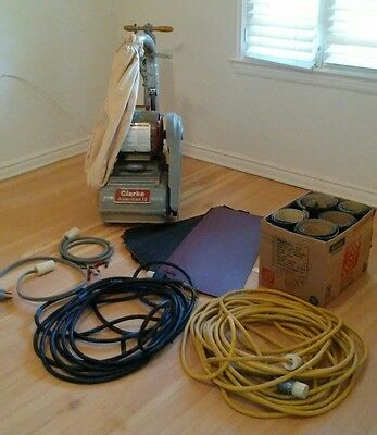 "230V Clarke 12"" drum wood floor sanding machine"