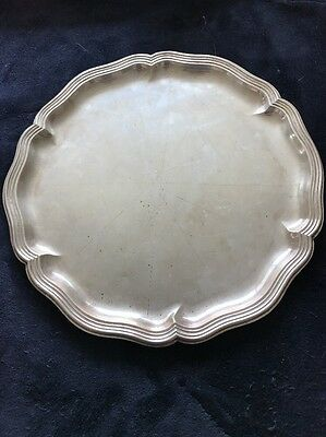 .830 Silver Tray Antique from Germany by M.H. Wilkins & Sohne not Sterling