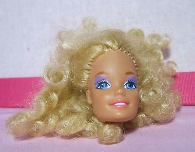 Barbie and the rockers second issue head purple eye make up curly big hair 1980s