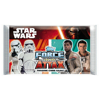 x2 Packs of Topps Star Wars Force Attax Trading Cards
