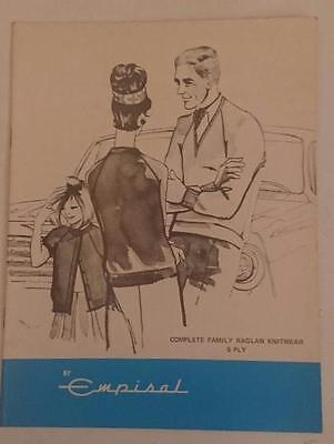Empisal Knitting Machine Pattern Book - Complete Family Raglan Knitwear in 5 ply