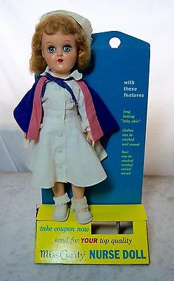 Vintage Rare 1950s MISS CURITY NURSE DOLL P-90 TONI~STORE COUNTERTOP DISPLAY