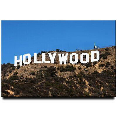 Hollywood Sign fridge magnet Los Angeles California travel souvenir