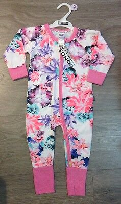 New Baby Girls Bonds Wondersuit Neo Lush Floral   Print Size 0