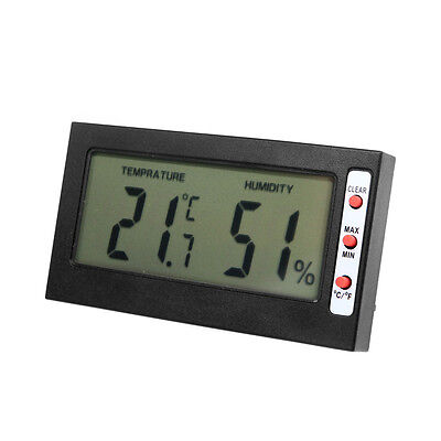 Electronic Digital LCD C/F Thermometer Hygrometer Thermostat Temperature Tester