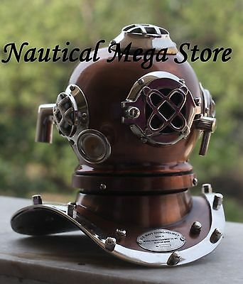 Old Vintage Style Diving Helmet Divers Antique US Navy Mark VI Replica Brass