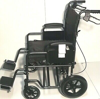"Dynamic Quality Folding Wheelchair Full Size 18"" Adjustable Seat And Back NEW"