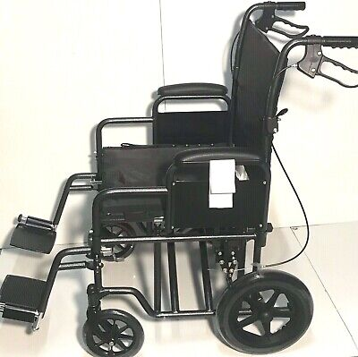 Quality Folding Wheelchair Fully Featured Lightweight 14kg NEW