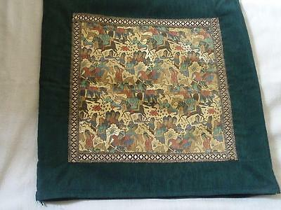 Cushion Damascus Brocade Silk Gold Thread Middle East
