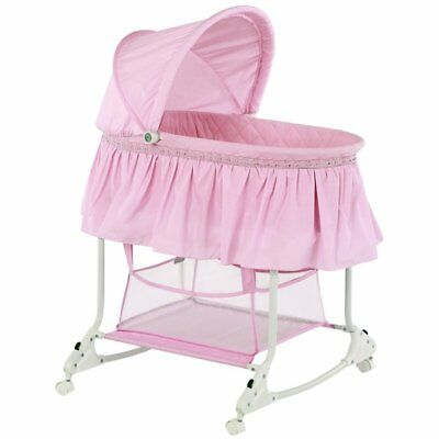 Dream On Me Willow Bassinet in Pink