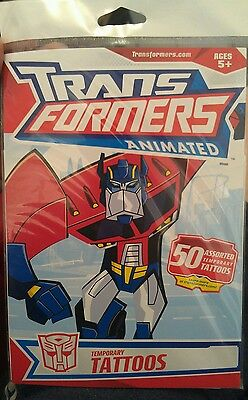 50 Assorted TRANSFORMERS Animated Temporary Tattoos (1 Pack) FREE POST KIDS FUN