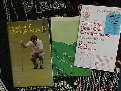 1983 OPEN GOLF CHAMPIONSHIP PROGRAMME inc ORDER OF PLAY & MAP - ROYAL BIRKDALE