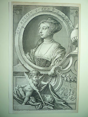 "Jacobus Houbracken "" Anne Boleyn "" 1742. Very Rare."