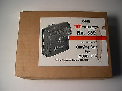 NOS Vintage Triplett Caring case for the 310  No. 369  unopened box