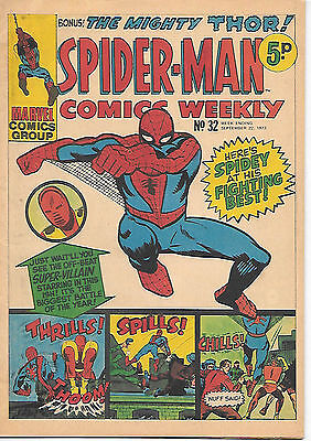 Spider-Man Comics Weekly #32 (Marvel UK 1973) very high grade
