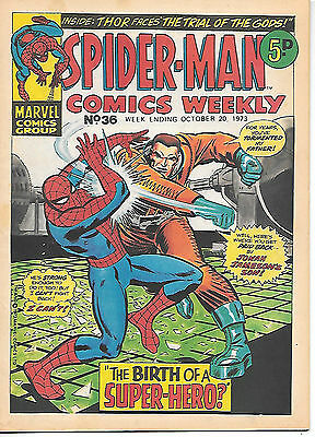 Spider-Man Comics Weekly #36 (Marvel UK 1973) very high grade