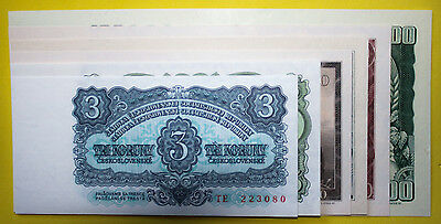 Czechoslovakia Complete Banknote Set 1961 Uncirculated - 7 x Banknotes ***Value