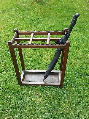 Umbrella Stick Stand Antique Oak