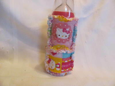 New Pink Hello Kitty  Inspired 10oz Baby Bottle Cover / Holder / Cozy