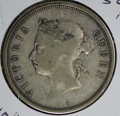 1890 Straits Settlement Fifty Cents Silver Coin - Nice original coin!!