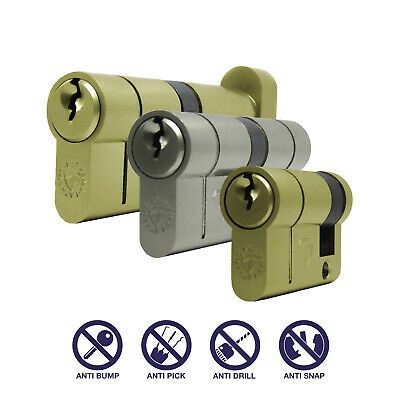 Anti Snap Euro Cylinder Lock - High Security Barrel - FROM £5.90 - Anti Pick