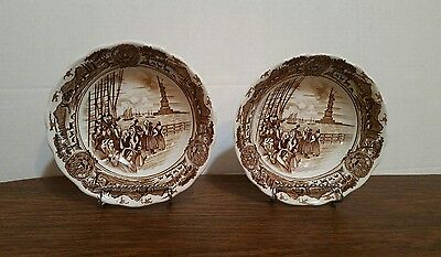 """Two - J&G Meakin Royal Staffordshire AMERICAN LEGEND Cereal Bowls 6 1/2""""x1 3/4"""""""
