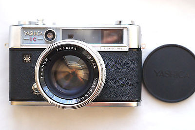 YASHICA IC LYNX 14E CAMERA & YASHINON-DX 45mm f1.4 lens