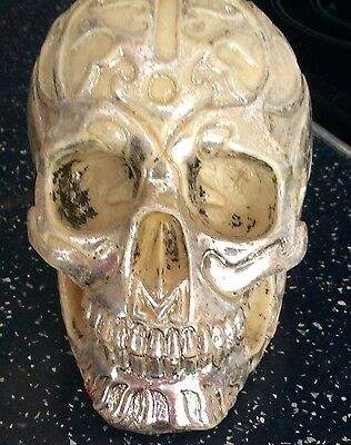 latex mould for making Gothic style skull