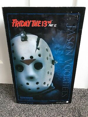 """Friday The 13th Part 6 Jason Voorhees Sideshow Collectibles 12"""" Figure Boxed"""
