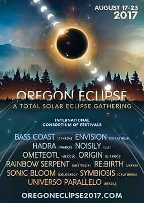2 Tickets & 1 VEHICLE PASS to Oregon Eclipse Festival-2017