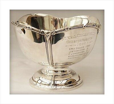 Sterling Silver Rowing Trophy Bowl. Wirral Challenge Cup, Chester Regatta 1922.
